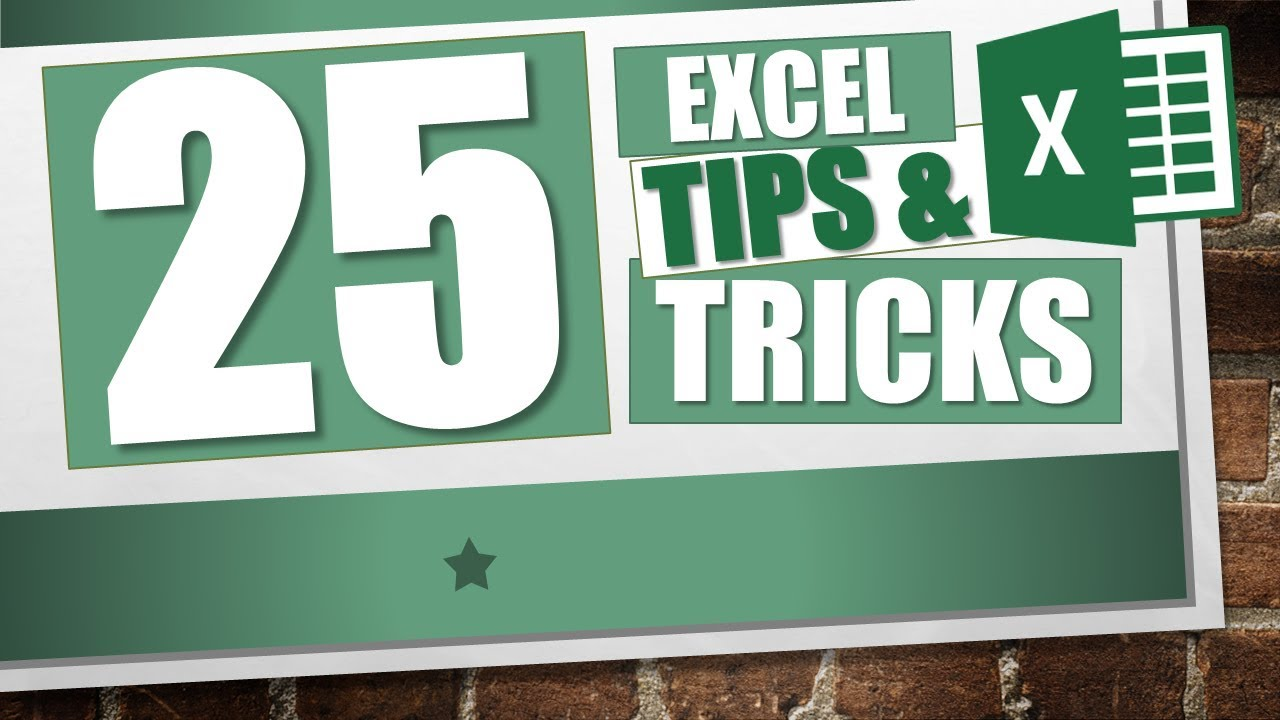 Top 25 Excel Tricks and Tips - YouTube